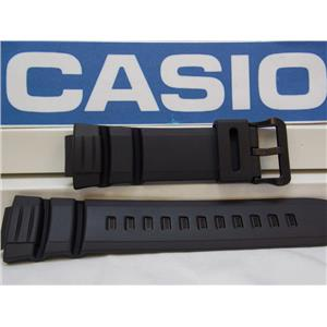 Casio Watch Band WS-220, W-S220, HDDS-100 Black Resin Watchband / Strap.