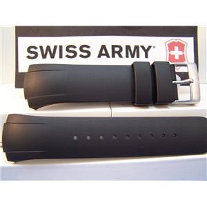 Swiss Army Watch Band ST4000, ST1500, ST2500, Black Resin Strap. Watchband