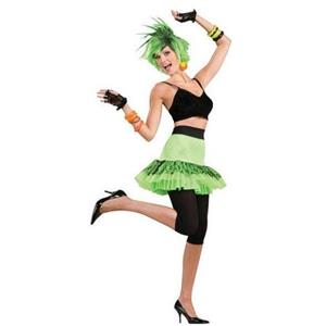 Let's Have Fun Lime Green 80's Skirt