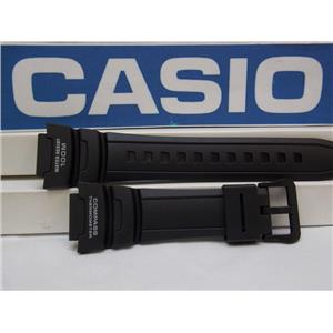 Casio Watch Band SGW-500. Black Resin Strap for Compass Thermometer Twin Sensor