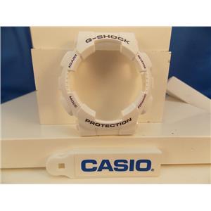Casio Watch Parts GA-100 A-7 Bezel / Shell White Black/Purple G-Shock Letters