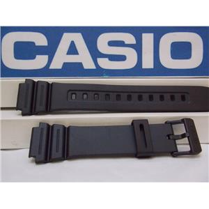 Casio Watch Band F-108, AE-1200, AE-1300 Black Rubber Strap