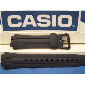 Casio Watch Band AQ-163 W-2, AQ-161 -2. Dark Blue Rubber Strap. Watchband