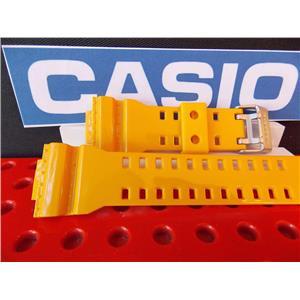Casio Watch Band GA-100 A-9 Shiny  Mustard Yellow  Rubber G-Shock Strap