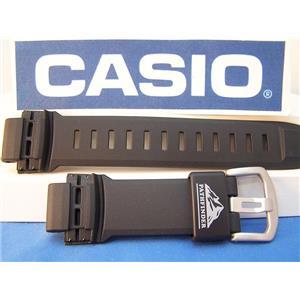 Casio Watch Band PAW-5000 Pathfinder Solar Atomic Black Resin Strap. Watchband