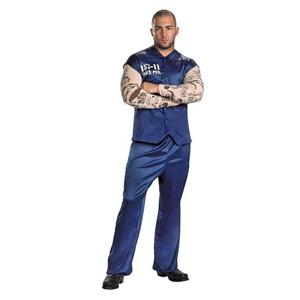 Tattooed Convict Plus Size Adult Costume XXL 50-52