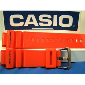 Casio Watch Band G-9100 R-4. G-Shock Gulf Man Dual Illuminator Orange Rub Strap