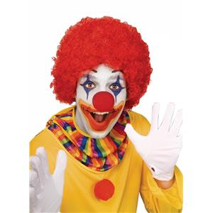 Red Afro Curly Clown Wig