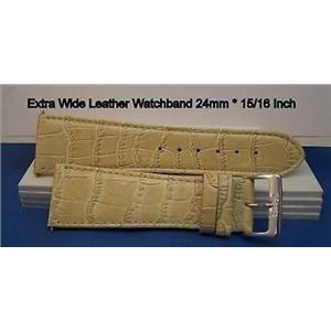 24mm Wide Bone Leather Strap.Genuine Leather.Good Quality Watchband