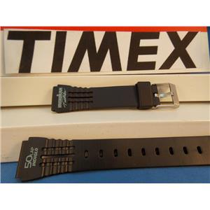 Timex Watch Band IronMan Triathlon ladies 50 Lap black Rub w/Green Graphic 15mm Strap