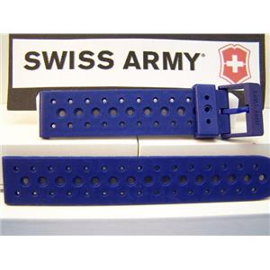 Swiss Army Watch Band Renegade Light Blue Mens 19mm Swiss Made Strap / Watchband