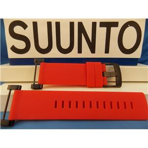 Suunto Watch Band Core Red Strap. Black buckle / Hardware. w/ Attaching T-Bars