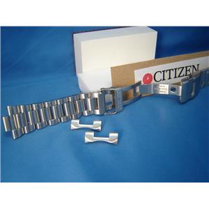 Citizen Watch Band BJ7000. Bracelet All Steel Silver Color W/Push Button Buckle