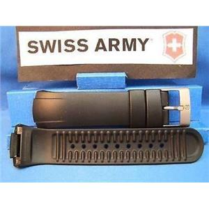 Swiss Army Watch Band ST5000 Man's Black Resin Strap / Watchband w/Pins
