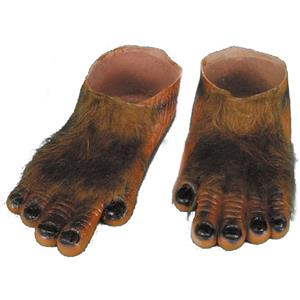 Brown Hairy Monster Feet Adult Costume Accessory