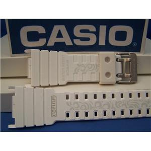 Casio Watch Band GLX-5500 -7 G-Lide Shiny white G-shock Watchband-Strap w/Graphics
