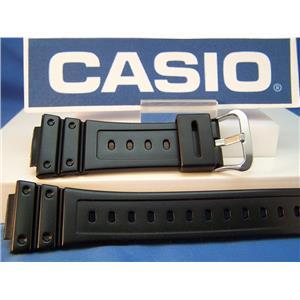 Casio Watch Band GW-M5600 R and GW-M5610 R. Polished Black Resin G-Shock Strap