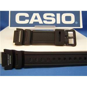 Casio Watch Band AQW-101 Fishing Gear ThermoSensor Watchband Black Rubber Strap