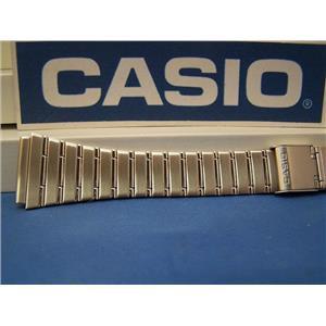 Casio Watch Band DBC-1500 B Steel Two Piece Snap Bracelet 22mm Fits Databank