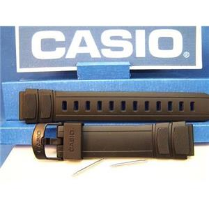 Casio Watch Band HDA-600 Black Resin Strap. 18mm Watchband