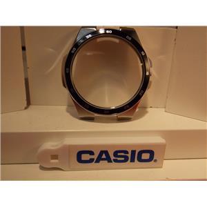 Casio Watch Parts  EF-340 : Case / Bezel / Crystal. Steel Silver Color