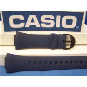 Casio Watch Band FE-10 -2 blue Resin Illuminator Watchband - Strap