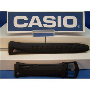 Casio Watch Band STR-300 C. Black Resin Phys Chrono Lap Memory 60 Strap