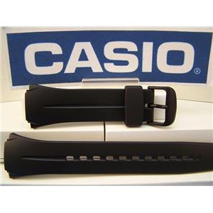 Casio Watch Band W-101 Black Resin Strap