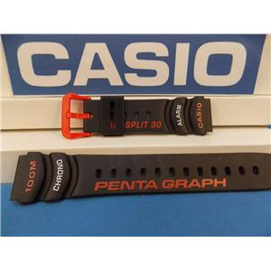 Casio Watch Band PGW-30 -4 Pentagraph Lap Split 30 Orange/white Graphic Watchband