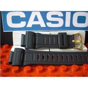 Casio Watch Band G-9300 w/Gold Tone Buckle Twin Sensor Tough Solar Blk Rub Strap