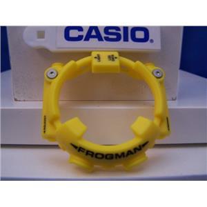 Casio Watch Parts GF-8250 -9 Bezel/Shell Frogman Yellow w/black Letter Silvr Decor
