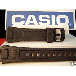 Casio Watch Band WV-59. For  Atomic Wave Ceptor World Time Black Resin Strap