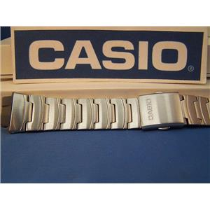 Casio Watch Band AQ-160 WD-1 Steel Bracelet W/ Push Button Deployment buckle
