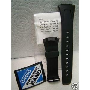 Casio Watch Band EFA-109 Original Black Rubber Case Fitted Strap. Watchband