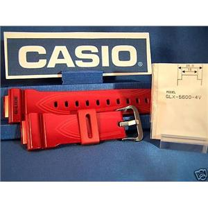 Casio Watch Band GLX-5600 & DW-5600E Red Resin Strap