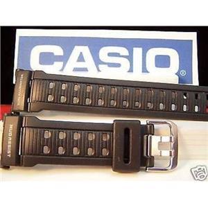 Casio Watch Band G-9000 -1 Mudman Dual Illuminator Mud Resist  blk Rubber Strap