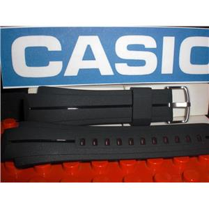 Casio Watch Band EFA-128 Black Resin Strap w/ Steel buckle and Attaching Pins