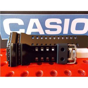 Casio Watch Band GA-110, GD-110, GD-100, QW-3400 Polished Black Resin Strap