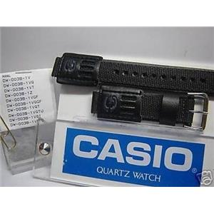 Casio watch band DW-003 B Nyl/leather Gry/black Fits DW-9052