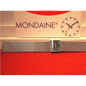 Mondaine Swiss Railways Watch Band 16mm Silver Tone Steel Mesh Bracelet FM8916