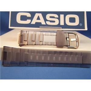 Casio watch band BG-3000-8. Baby G. C-Thru smoke/gray. Resin Strap.Watchband