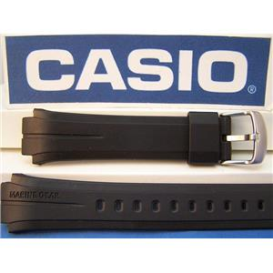 Casio Watch Band MRP-700 Marine Gear Black Resin Strap With Attaching Pins
