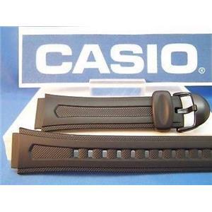 Casio Watch Band W-210 Black Resin Strap