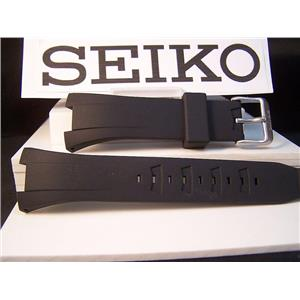 Seiko watch band SNA459 Black Resin Integrated Case Fitted Strap w/pins