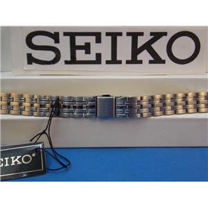 Seiko Watch Band SXDC26 P1 12mm Curved End Bracelet w/Push Button Logo buckle