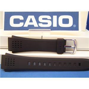 Casio Watch Band EFA-123 and EFA-124 Black Resin Strap