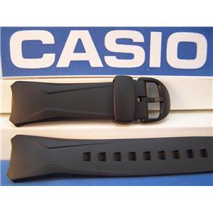 Casio watch band WVA-104 H Waveceptor Original Black Resin Strap