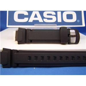 Casio Watch Band AQ-180 & W-213 Black: Rubber/Logo buckle
