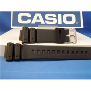 Casio watch band DW-6900 G. Gold Tone Buckle. Black Resin 16mm Strap.