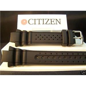 Citizen Watch Band Cyber Aqualand Promaster Black Resin Original Strap.Watchband